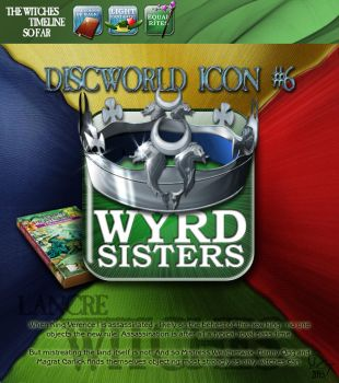 Discworld icon - Wyrd sisters by DavidOssian