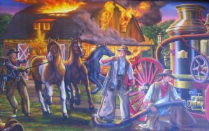 Fire Fighting Cowboys by BadCowboy69