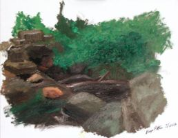 My First Landscape in Oils. by chenbaiwan
