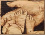Ava's Feet Pyrography by wickedtiger86