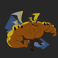That yellow dragon from Blue Dragon by ItsTalegas