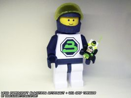 Blacktron papercraft minifig by ninjatoespapercraft