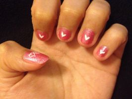 Valentine nails by Prince5s