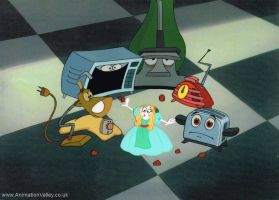 The Brave Little Toaster Production cel by AnimationValley