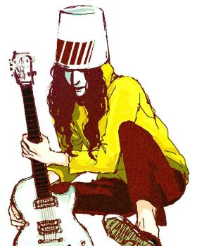 Buckethead with Gibson. by Chenj27