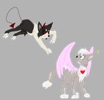 Darkie and Lightie kittes by Pokemonmaster704