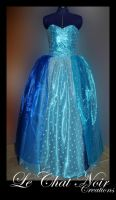 Blue Dress With Sequins_I by LeChatNoirCreations