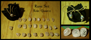 Rune Set Rose Quartz For Sale by Siobhan68