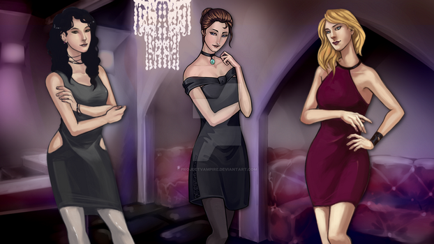 Ladies of the Nightclub by projectvampire