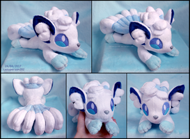 Alolan Vulpix beanie plush by lazyperson202