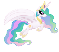 Princess Celestia (No Background) by drawponies