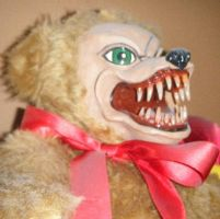 Teddy Bear with Teeth 'Toby' by spookysculpter