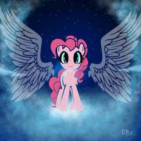 pinkie pie guardain angel by Lumicorn