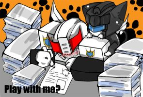 Prowl Jazz Kitty:Play with me? by BumblebeeSam