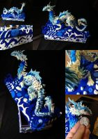 Aqua - Water Dragon on Box - SOLD by SonsationalCreations