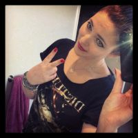 Fashion  - Disturbed Shirt and Red Nails by xxxKats-chancexxx