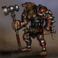 Bear-warrior by Candra