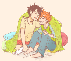 idiot couple cuddles by xShieru