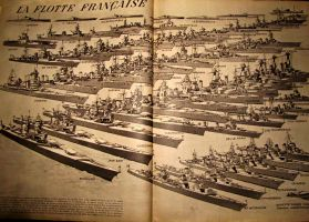 1940 French fleet by April-Mo