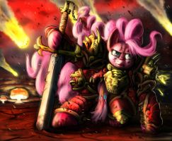Pinkamena Warrior Pie by doubleWbrothers