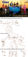 Glee Drawing Challenge by iTiffanyBlue