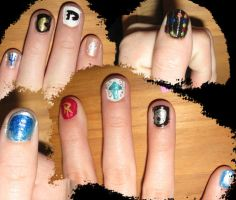 Haylie's Nerd Nails by Azarahael-Morganti