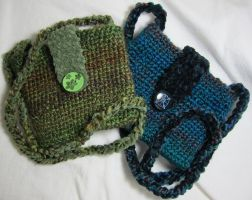 Blue and Green Chickie Bags by Mattsma