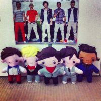 One Direction Plush Toys by Joy-Pedler