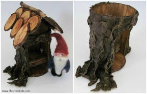 Outhouse For The Gnome - Realistic Tree Bark by sojala