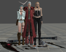 xnalara dmc models part 2 by twinlightownz