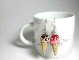 Miniature clay ice cream 1 by ElegantInfants