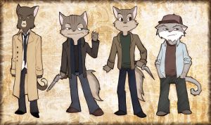 Supernatural Cats by IronicChoice