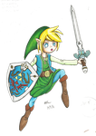 Link Albane Finished Commission by wiki-tan