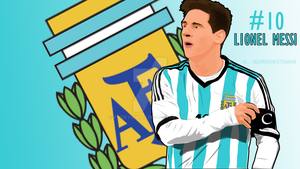 Lionel Messi by Fwsetiawan