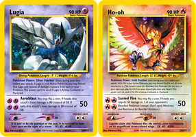 Neo Redux 249-250: GSHGSS Mascots, Lugia and Ho-oh by ILKCMP