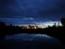 in the Lithuania in night by feniksas4