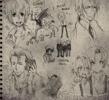 BACCANO: SKETCH DUMP by iheartbrownies