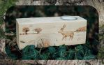 Deer in the Snow Rustic Custom Pyro Candle Holder2 by CosmosCrafts
