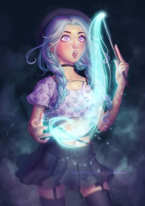 Moon Witch by eserioart