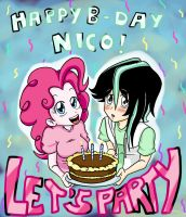 HAPPY B-DAY, NICORASU by Hasana-chan