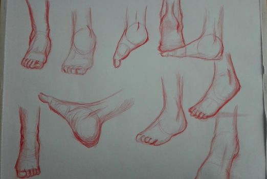 Foot Sketches by TheMasterofSuicide