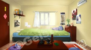 background bedroom afternoon by Geistworld