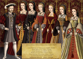 Henry VIII and his wives by Kathofel