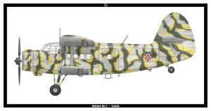 Antonov An-2 Croatia by PsykoHilly