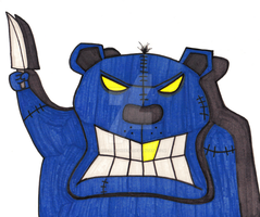 Gangsta Bear by MyHeadWonders