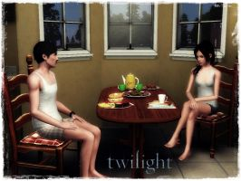 twilight Bella and Charlie The sims 3 by Tokimemota