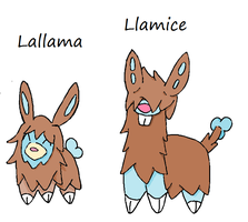 Lallama and Llamice Colored by Casey333