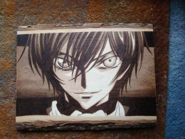 Lelouch Woodburning by ironhorn2501