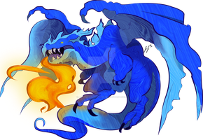 Blue Dragon by jEROMEaNIMATIONS