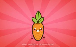 Kawaii carrot by junoteamvn